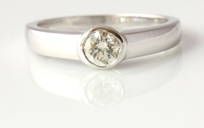 0.30ct Diamond Collet Ring