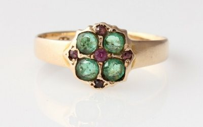 15ct Emerald Ruby Ring