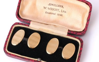 1929 Heavy Gold Cufflinks
