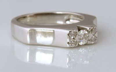 Diamond Five 5 Stone Ring