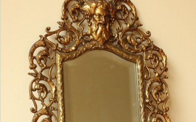 Brass Bacchus Wall Mirror