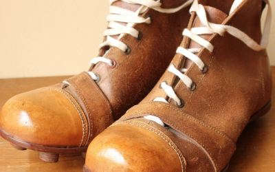 Brown Unworn 1920 Football Boots