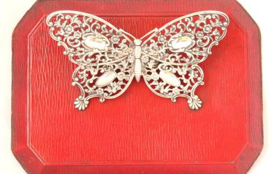 Butterfly Silver Stationery Clip