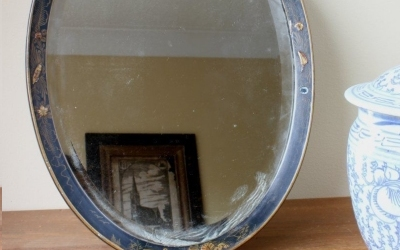Oval Chinoiserie Mirror