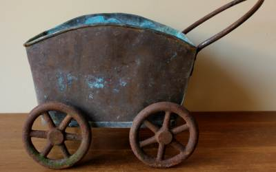 Copper Wheeled Cart