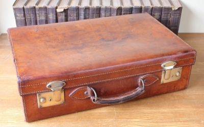 Cowhide Leather Suitcase