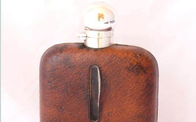 Dixon Silver Leather Hip Flask