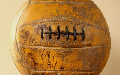 Eighteen Panel Six Hole 1950 Football