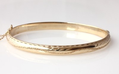 Engraved Hinged Bangle
