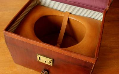 Finnigans Leather Hat Case