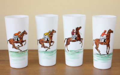 Four Horse Racing Jockey Glasses