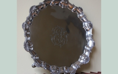 George III Silver Salver Card Tray