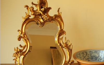 Gilt Cherub Mirror
