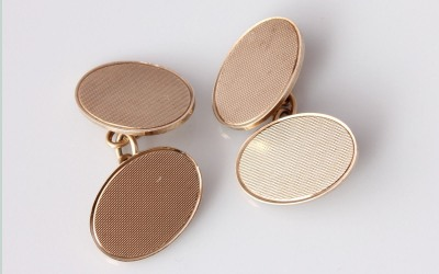 Gold ACCo Oval Cufflinks