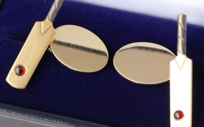 Gold Cricket Cufflinks