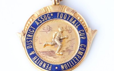 Gold Football Medal