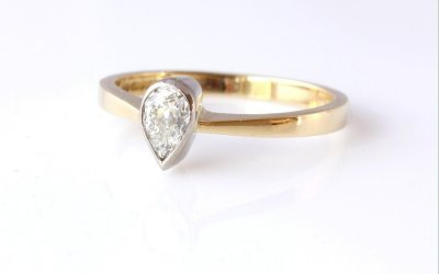 Gold Pear Ring