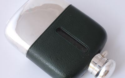 Green Leather Flask