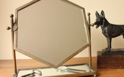 Hexagonal Bronze Vanity Mirror