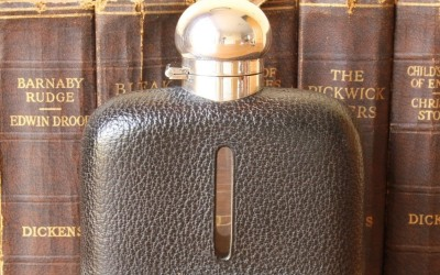 Large Silver Plate Hip Flask