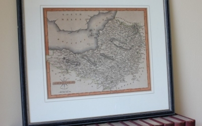 Somersetshire Antique Map