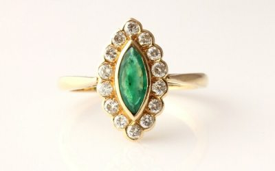 Marquise Emerald Ring