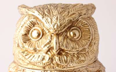 Mauro Manetti Gold Owl Ice Bucket