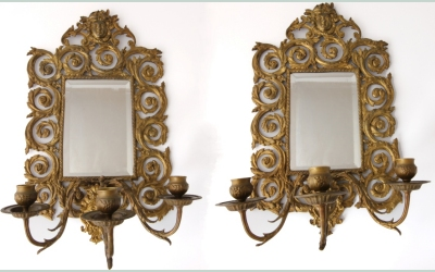 Pair Face Mirrors