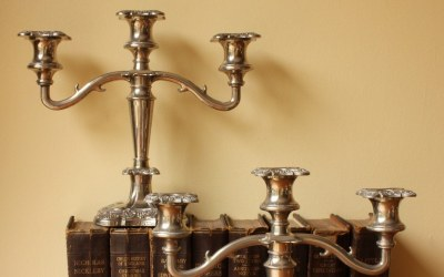 Pair Plated Candelabra