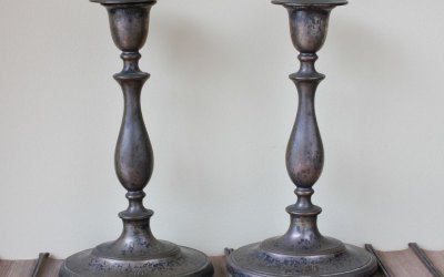 Plated Shabby Candlesticks