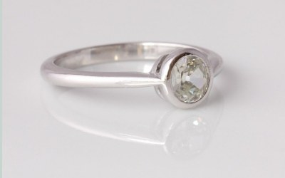 Platinum Rubover Solitaire Ring