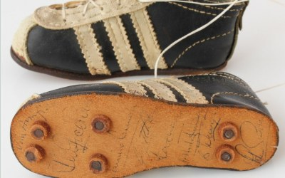 Signed Miniature Boots