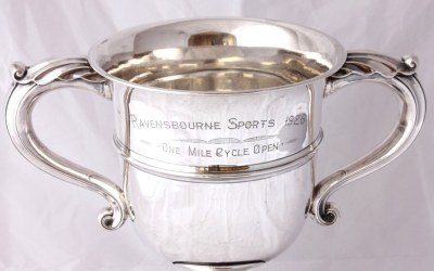 Silver Cycling Trophy