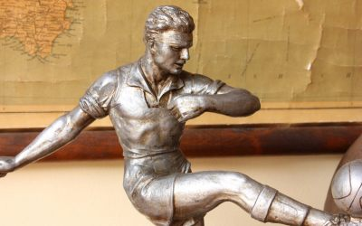 Silver Football Statue