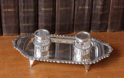 Silver Ink Stand Hutton