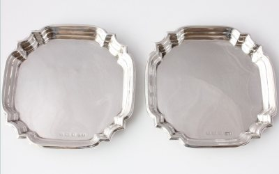 Silver Pin Trays