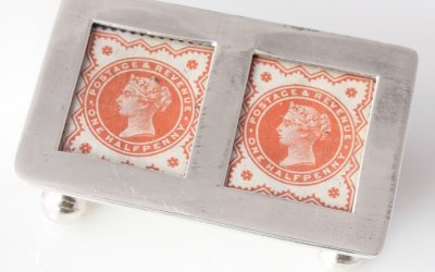 Silver Stamp Box