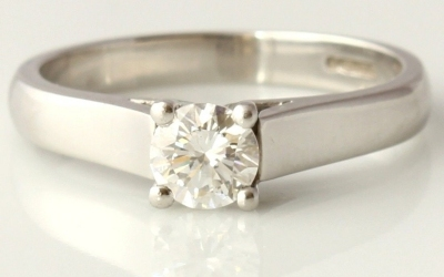 Solitaire GIA Certified Platinum Ring