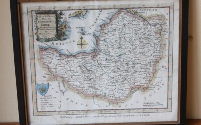 Antique Somersetshire Map