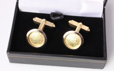 Textured Disc Cufflinks