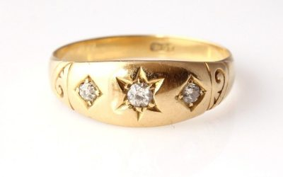 Victorian 18ct Gold Diamond Ring