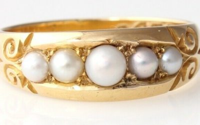 Victorian Five Pearl Ring