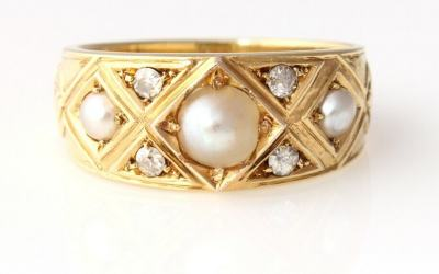 Victorian Pearl Ring