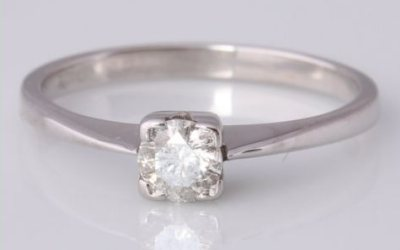 White Gold 0.25ct Solitaire Ring