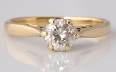Yellow Gold 0.50ct Solitaire Ring