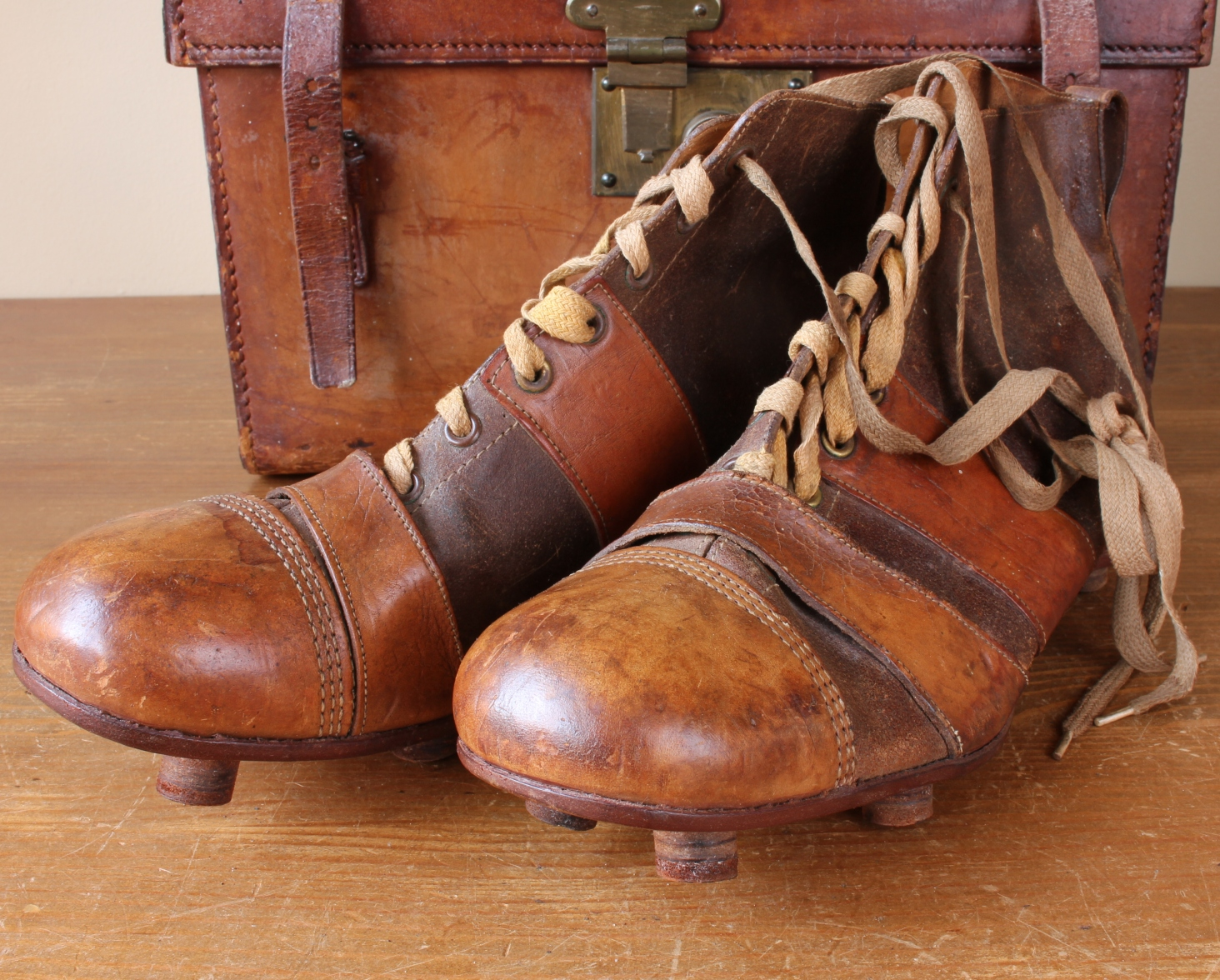Dolcis Leather Football Boots. Old